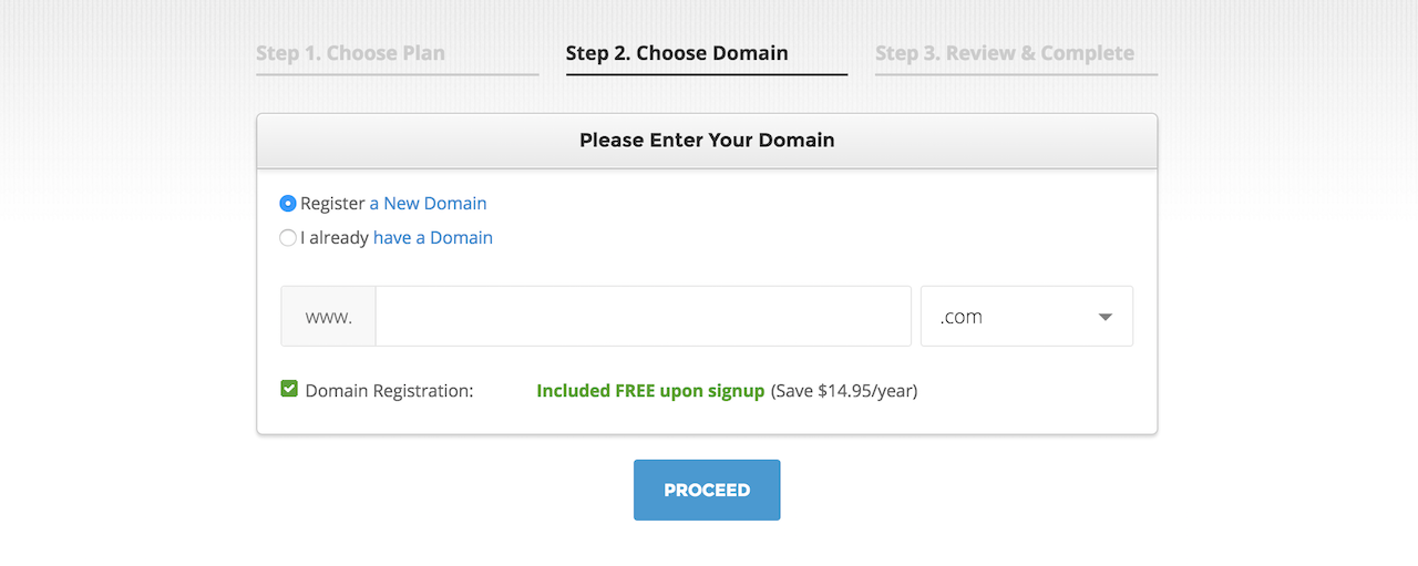 choose domain siteground