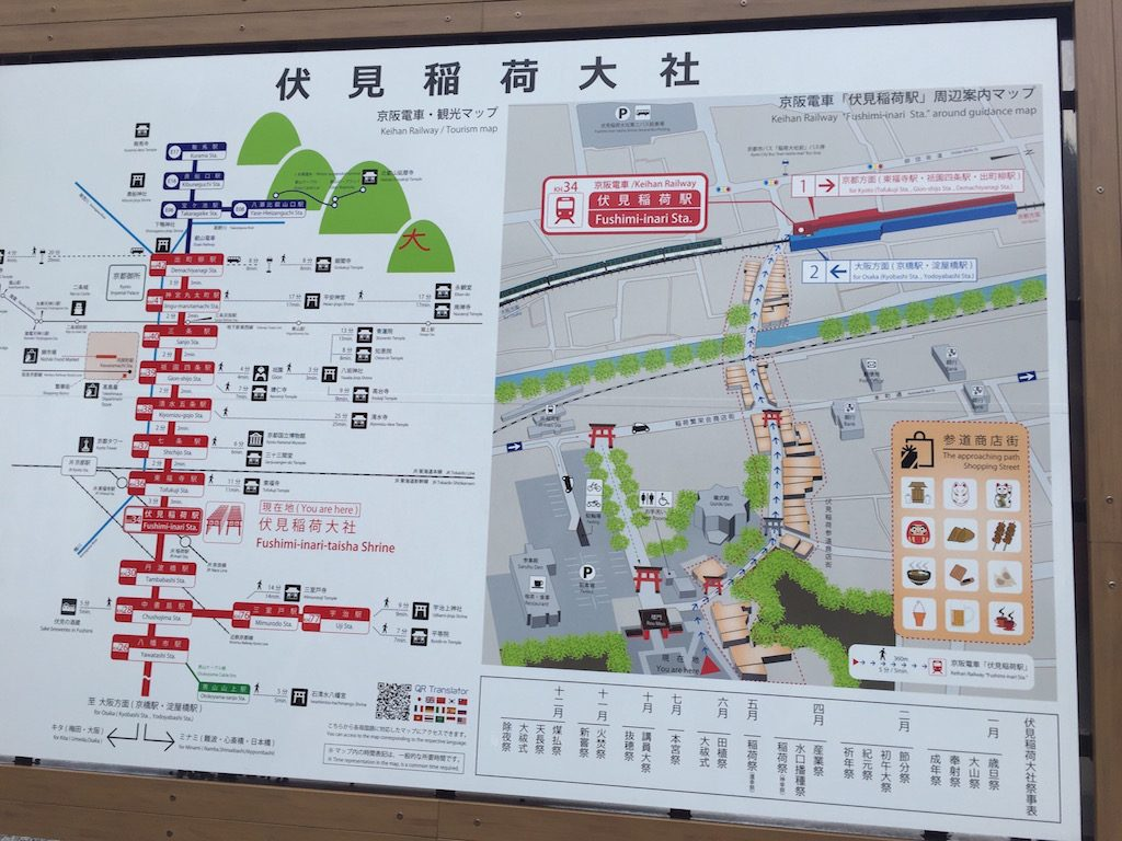 kyoto attraction map