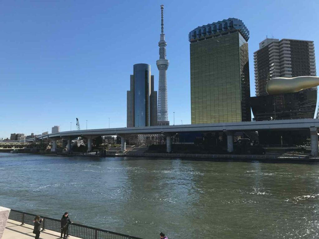 View of Tokyo Skytree over sumida river